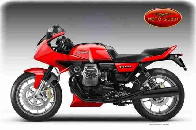 Moto Guzzi V75 en Madrid